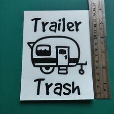Caravan Trailer Trash logo - Camper/Car/Van/Fridge/Laptop Vinyl Decal Sticker