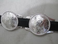 Vintage Concho Belt Justin's Leather Rodeo Western Sz 36 Cowgirl