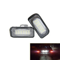 LED License Plate Light Fit For Mercedes Benz W203 R230 W209 C209 A209 SL CLK
