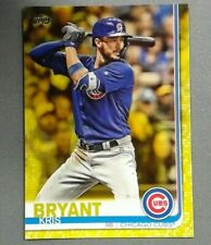 2019 Topps Series 1 #210 KRIS BRYANT Walgreens Yellow Parallel Cubs