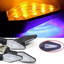 4x intermitentes de moto Señal Giro de Moto 12 LED Luces Ámbar Impermeables