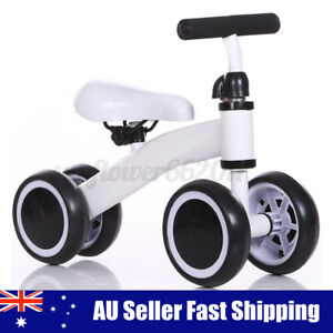 Kids Balance Bike Toddler Push Scooter Baby Walker Tricycle 4 Wheels Bicycle A