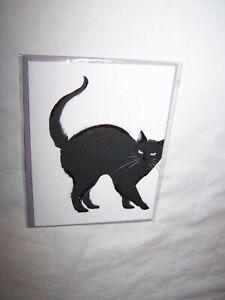 Papyrus Halloween Greeting Card & Envelope; Black Cat