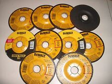 "10 Piece DEWALT 4-1/2"" x 1/4"" x 7/8"" Metal Grinding Wheels DW 4541"