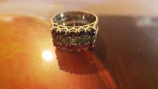 3 Vorsteck Ringe aus 750er Weißgold mit Smarad Rubin Saphir  Gr 53