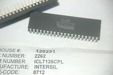 INTERSIL ICL7126CPL 40-Pin Dip Low Power Display A/D Converter Ne Lot Quantity-2