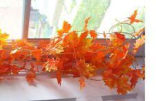 4 x 8 ft(240 cm) Maple Leaf Vines(red) Artificial plants Ivy Hanging Garland