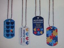 12 AUTISM AWARENESS DOG TAGS necklaces dog tag AUTISM party favor FUNDRAISER