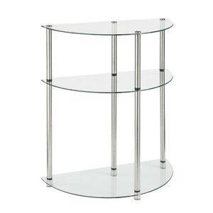 Convenience Concepts Designs2Go 3 Tier Entryway Table, Glass - 157082
