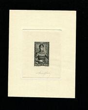 Monaco 1942 Rainier Grimaldi Scott B61 Signed Sunken Die Artist Proof in Black