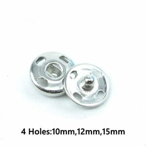 50 Pair Metal Buttons Snap Fastener Press Stud Sew On Sewing Fabric Craft