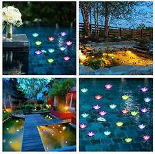 Floating Lotus Lights Water Lily Candles Light Lantern Pool Festival Nigh 20 pcs