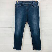 Kut From The Kloth Womens STEVIE STRAIGHT LEG Stretch  Denim Blue Jeans Size 14