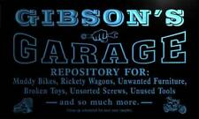 pp1116-b Gibson's Garage Repair Shop Room Bar Beer Neon Light Sign