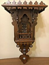 Antique Egyptian Wood Wall Shelf, Hand Work Arabisque, Inlaid Mother of Pearl