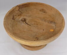 Wooden Pedestal Bowl Hand made Signed and Dated W.V.G. 4/93  1993