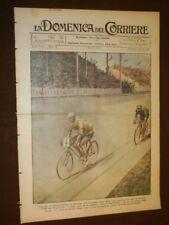 La Domenica del Corriere 3 agosto 1924 Ciclismo Bottecchia Cavalieri Ricciotti G