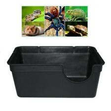 Small/Large Reptile Hide Plastic Box Den Spawning Cave for Tortoise Snake Lizard