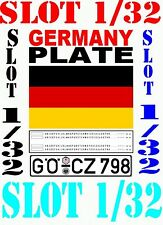 DECAL SLOT 1/32 PLATE GERMANY 1989 (05)