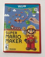Nintendo Wii U Super Mario Maker 1 Game Disc Complete CIB w/Box,
