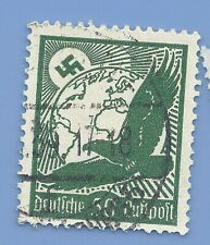 Germany Third Reich Nazi 1934 Nazi Swastika Eagle Luftpost 50 Stamp  WW2 ERA #5