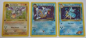 Pokemon 3 x PRERELEASE Promo Cards - AERODACTYL, DARK GYARADOS & MISTY'S SEADRA