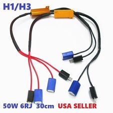 HID Canbus canceler resistor no hyper flash flicker dash error Fog Light H3 W1 J
