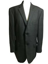 BHS Mens Size L Quality Dark Grey Wool Classic Blazer Jacket