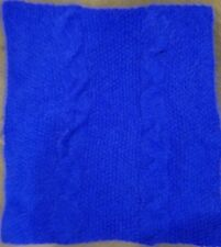 hand-knitted  Angora Goats cashmere simple  infinity scarf (royal blue)