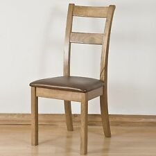 Lourdes solid oak french furniture set of four dining chairs