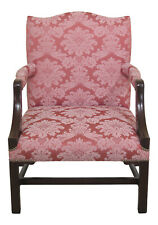 30817EC: Vintage High Quality Chippendale Library Chair