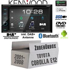 Kenwood Radio für Toyota Corolla E12/120 Bluetooth DAB Digital Spotify Einbauset