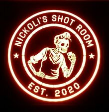 New ListingCustom Beer, Whiskey Led Sign Personalized, Home bar Lighted Sign, Skeleton
