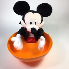 Disney Halloween Motion Activated Vampire Mickey Mouse Trick Treat Candy Bowl