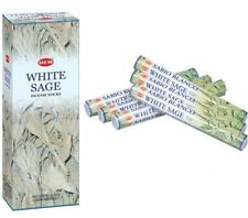 Hem White Sage incense Sticks 6 Boxes x 20 Sticks per Box (120) Pagan Smudge