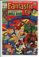 Fantastic Four #89 - Mole Man Cover! - 1969 (Grade 4.5)