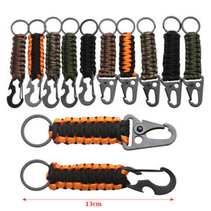 Rope Keychain Bottle Opener Key Chain Ring Camping Survival Kit EDC Tools