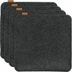 Miqio® Design Sitzkissen Rechteckig Stuhlkissen Rutschfest (2er oder 4er Set)