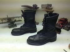 VINTAGE USA STEEL TOE MILITARY COMBAT ENGINEER LACE UP MOTORCYCLE BOOTS SIZE 9 R