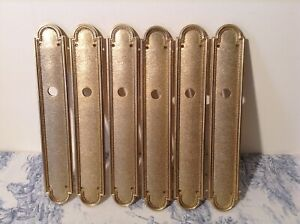 Set 6 Vintage French Door Finger / Push Plates (3560)