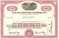 Cascade Industries Incorporated > New Jersey stock certificate specimen