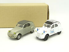 UH SB 1/43 - Lot de 2 Citroen 2CV