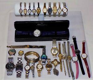 Lot of 31 Vintage Watches. Gold F & E, Elgin, Bulova, Caravelle, Benrus & More