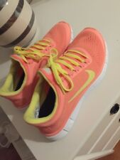 Nike ID Free 5.0 Damen EUR 39 US 8 Rosa Gelb Grün