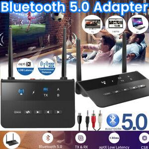 Bluetooth Transmitter Empfänger Wireless Sender Aux Audio Adapter TV Kopfhörer