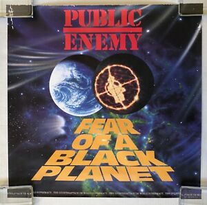 PUBLIC ENEMY Fear Of A Black Planet 1990 CBS PROMO Only POSTER TAP Hop Hop VG