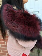Real Fox Fur ( Saga ) stole,wrap,scarf, Boa size XL-new with tags