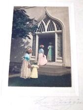 Charles Higgins Hand Colored Photo Women Elijah Kellogg Church Harpswell ME