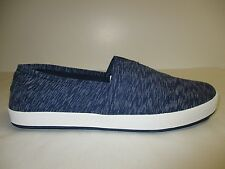 Toms Size 13 AVALON Navy Textured Textile Fashion Sneakers New Mens Shoes