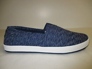 Toms Size 11.5 AVALON Navy Textured Textile Fashion Sneakers New Mens Shoes
